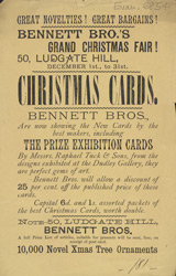 Advert For Bennett Brothers Christmas Fair